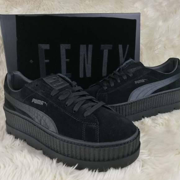 be645fb1c064 FENTY PUMA Rihanna Suede Cleated Creepers Size 10